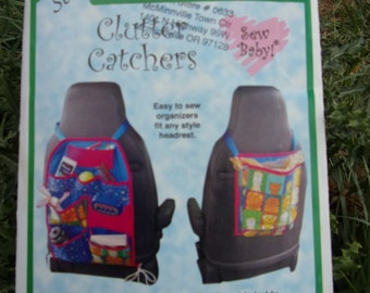 Sew Baby! F885 Clutter Catchers, Car Organizers, Car Back Seat Organizer Pattern