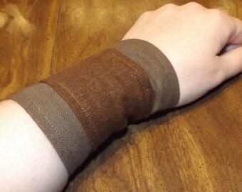 Victorian Style Brown Wrist Cuffs