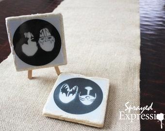 """KISS Minimalist Coasters, 4""""x4"""""""