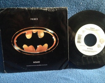 "Vintage, PRINCE - ""Batdance / 200 Balloons"", 7"" 45 RPM Vinyl Single, Original Press, Batman Soundtrack, Funk"