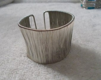 Dazzling Wire Wrapped Metal Cuff Bracelet-Stunning