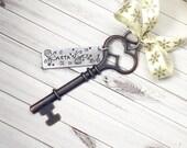 Key Ornament - Santa Ornament - Santa Magic Key Ornament - Family Tradition Ornament - Keepsake Ornament - No Chimney Santa Key