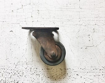 industrial caster -- urban farmhouse -- book end -- office decor