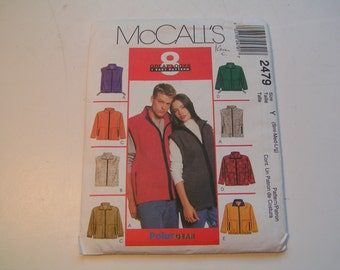 McCalls Pattern2479 Miss Men Unlined Jacket or Vest