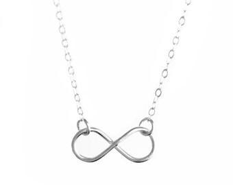 Sterling Silver Infinity Loop Necklace