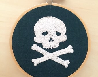 Embroidered Skull And Crossbones