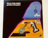 """Three Dog Night - Golden Biscuits - """"One"""" - """"Out in the Country"""" - """"Easy to Be Hard"""" - Dunhill 1971 - Vintage Gatefold Vinyl LP Record Album"""