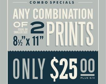 "2 - 8.5"" x 11"" Prints Combination"