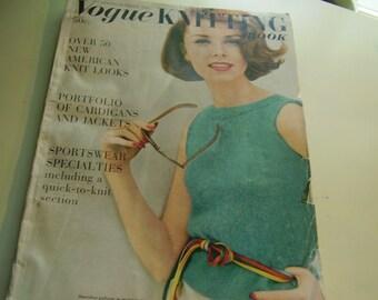 Vintage 1960's Vogue Knitting Book Spring-Summer 1961 Magazine
