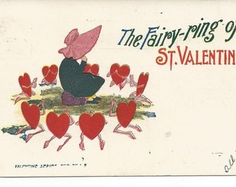 Vintage 1908 Valentine's Day Postcard