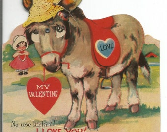 Vintage 1940's Mechanical Valentine