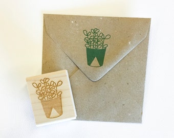 Succulent Stamp - hand drawn succulent - botanical stamp - nature stamp - natural stamp - cactus - rubber stamp - ready to ship K0064