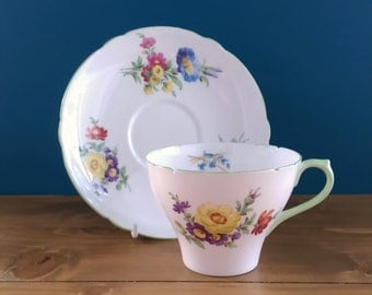 Vintage Shelley Tea Cup and Saucer c1940s