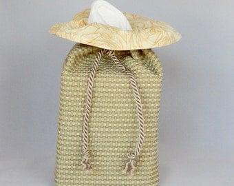 Fabric Tissue Box Cover - Decorator Fabrics Neutral