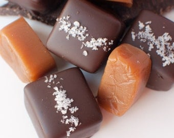 Chocolate Kissed Salted Caramels