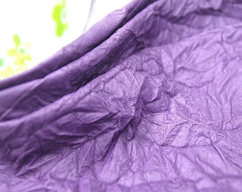 Fake Leather Fabric, Imitation Leather, Artificial Leather, Synthetic Leather Fabric - Purple - 55 Inches Wide - By the Yard 83994