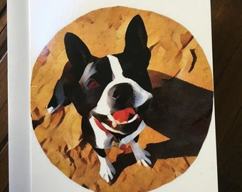 Boston Terrier Greeting Card (set of 4)