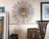 Vintage 1960's Metal Sculpture Starburst - Reduced Price