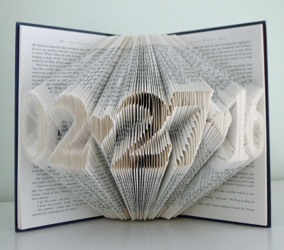 Folded Book ArtAnniversary Gift for HimHerWedding Date ...