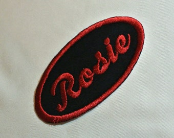 Rosie the Riveter Patch Perfect for Cosplay in Black Retro and Fun-Any Name Available