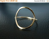 SALE - Gold Circle Ring, Stacked Ring, Eternity Ring, Geometric Ring