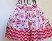 Baby Skirt - Valentine Baby Skirt - Chevron Skirt - Pink Skirt - Red Skirt - Girls Boutique Skirt - Baby Boutique Skirt - Modest Baby Skirt