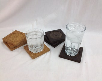 Reclaimed Cork coasters