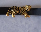 Belt Buckle Tiger Gold Designer PAQUETTE High Fashion Retro Hollywood Style collectible