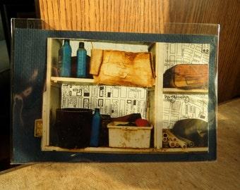 "Original Art Mini Collage -  4x6"" Frameable"