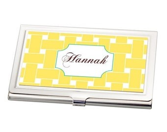 Personalized A Tisket A Tasket Business Card Case