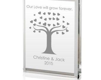 Engraved Our Love Will Grow Acrylic Keepsake