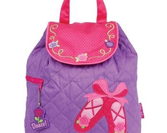 Personalized Stephen Joseph Ballet Quilted Backpack