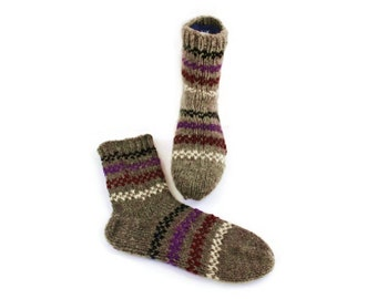 Unisex Wool Socks. Organic Winter Wool Socks. M men and M women socks size.