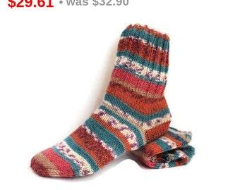 10%SALE Teen Wool Socks. Winter Hand Knitted Socks. S Women Size