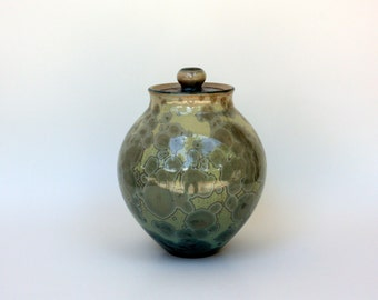 SMALL Aqua Crystalline Cremation Urn