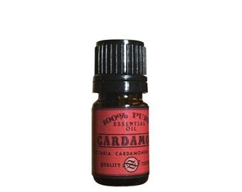 Cardamom Essential Oil, Elettaria cadamomum, India - 5 ml