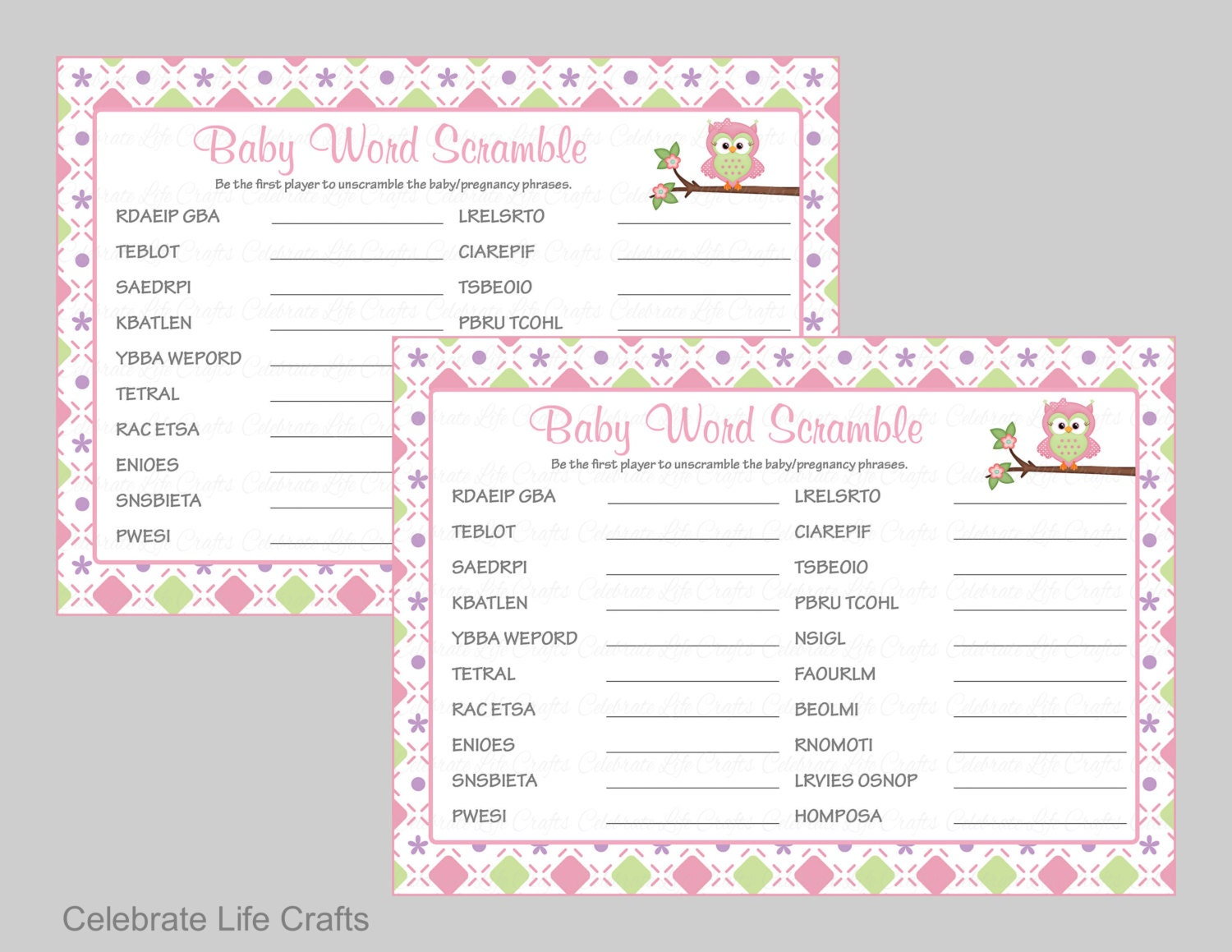 Baby Shower Word Games Part - 42: ?zoom