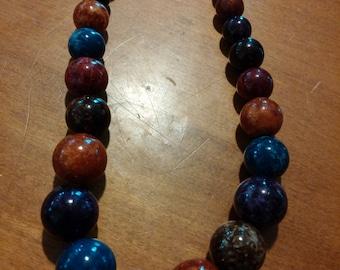 Pretty multi -colored Bead Necklace