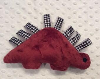 Crimson & Houndstooth Minky Dinosaur Toy, CLEARANCE SALE