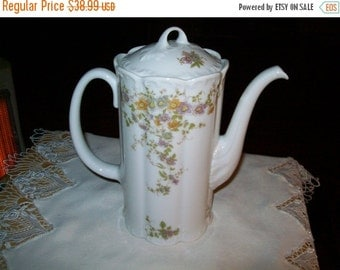 50% OFF Vintage Chocolate or Tea Pot with floral design signed Rosenthal Group Germany