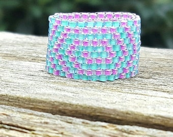 Deisgn your own ring, peyote ring, seed bead ring