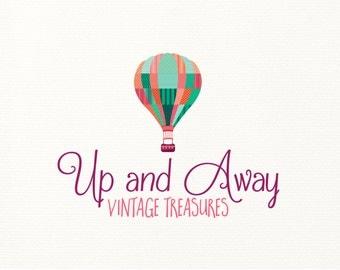 hot air balloon logo vintage premade - Logo Design #720