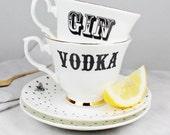 Gin & Vodka Teacup Set