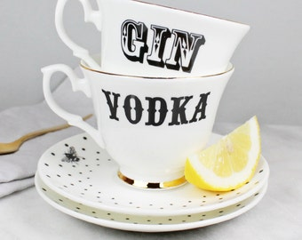 Gin & Vodka Teacup Set