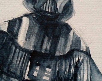 Original Darth Vader Watercolor 11x14