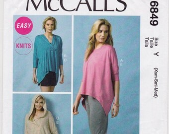 "NEW FF 2013 Misses' Tops, Tunic, Shorts and Pants Sewing Pattern - McCall's 6849 - Size 4 6 8 10 12 14, Bust 29.5 to 36"", UNCUT"