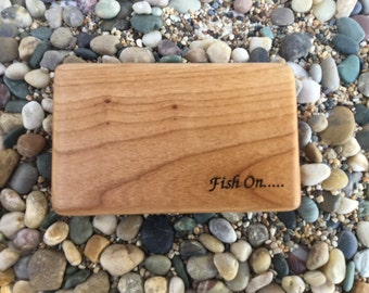 "White Ash Fly Box with ""Fish On"" Engraving"