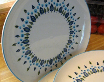 Vintage 1960s Mid-Century Swiss Alpine by Marcrest Stentson Dinner Plates-Set of 4
