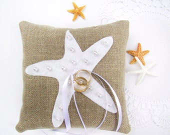 Beach Wedding, Ring Bearer Pillow, Starfish Wedding, Ring Pillow, Ring Bearer Starfish, Destination Wedding, Beach Decor, Beach Theme