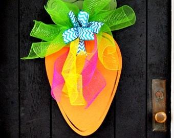Easter Wreath, Easter Deorations, Carrot Door Hanger, Easter Party Decor